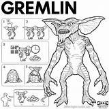 Gremlins Horror sketch template