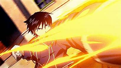 Anime Fire Roy Mustang Boy Alchemist Flame