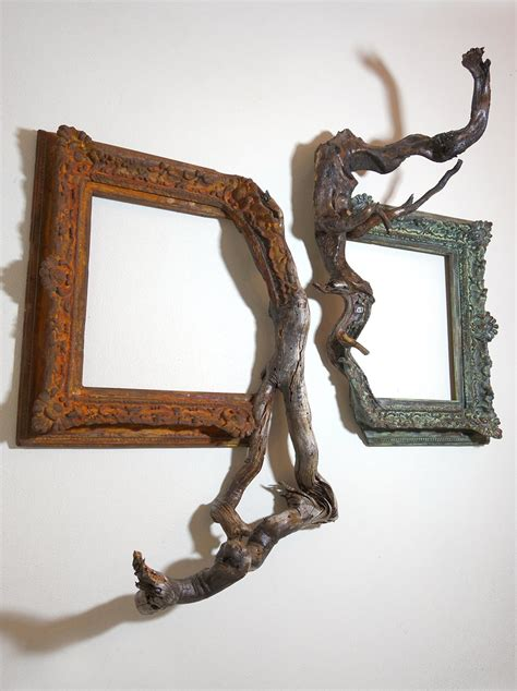 twisted tree branches fused  ornate picture frames