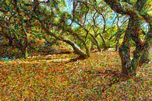 Autumn Oak Forest Painting by Angela A Stanton