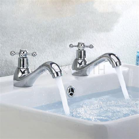 victorian bathroom sink basin pillar taps faucet pairs