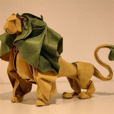 origami lion ideas  pinterest origami