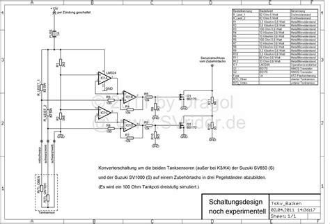 Yamaha V 650 Wiring Diagram Tach by Svrider Forum Thema Anzeigen Die Tankanzeige Und Der