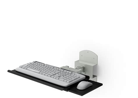 wall mounted retractable keyboard holder  mouse tray