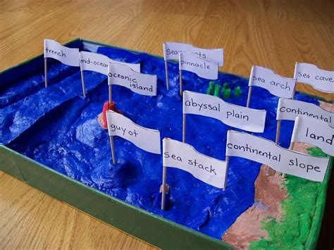 the floor project completed ocean landforms homemade montessori pinterest salt dough salts and activities