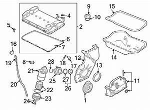 Volkswagen Jetta Engine Timing Cover  Liter  Lower  Vin