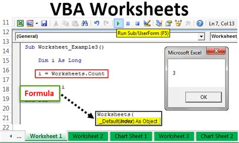 vba worksheet how to use worksheet objects in excel vba exles