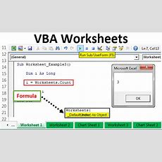 Vba Worksheet  How To Use Worksheet Objects In Excel Vba + Examples
