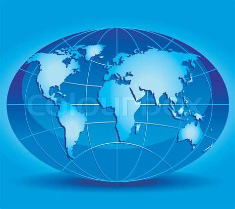 Model af kloden med kontinenter og ... | Stock vektor ...