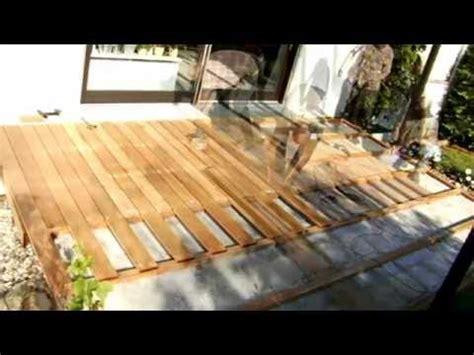 polaganje lesene terase youtube