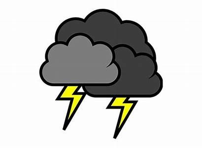 Lightning Thunder Thunderstorm Clip Stormy Clipart Cloud