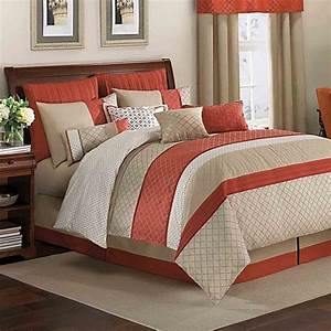 royal heritage homer pelham comforter set in orange bed With best comforter bed bath and beyond