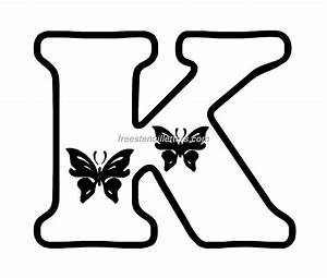 butterfly stencil letters archives free stencil letters With letter cut outs design