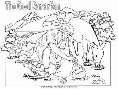 Samaritan Coloring Pages Bible Lesson Crafts Parable