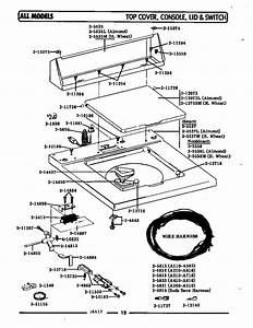 Top Cover  Console  U0026 Lid Switch Diagram  U0026 Parts List For