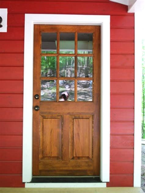 Wood Back Door With Window by How To Fix Common Problems On Entry Doors Diy