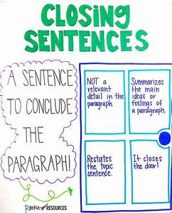 Writer S Workshop Anchor Charts Writing Mini Lesson 7 Closing Sentences And Clinchers