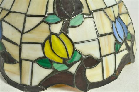 stained glass l shades vintage style stained glass l shade floral