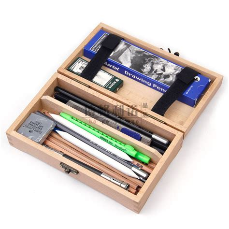 red beech square wood stationery box wood pencil case