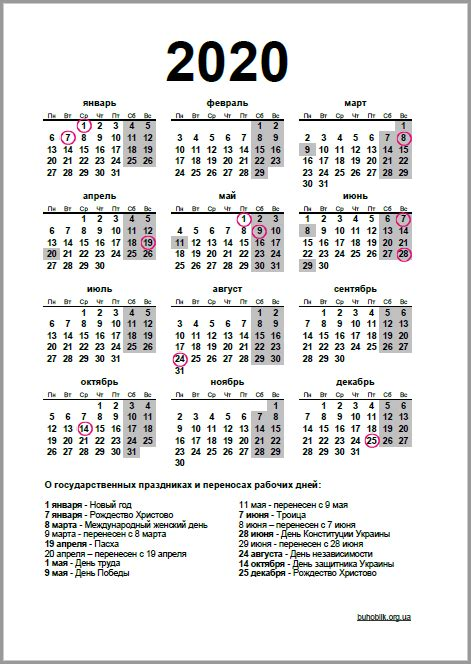 kalendar na god variant
