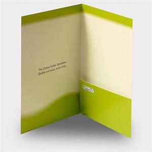 presentation folders folder with pockets business card With printed document folder