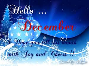 Hello December Month Image