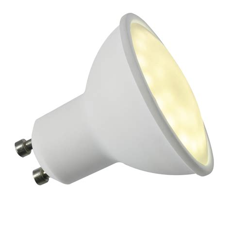 knightsbridge gu10 ceramic led bulb l 5w 2700k warm