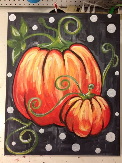 pumpkin painting halloween painting autumn painting