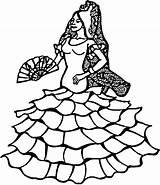 Coloring Corrida Designlooter Salsa Dancer sketch template
