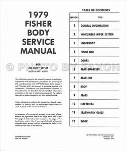 1979 Chevrolet Body Shop Manual Reprint