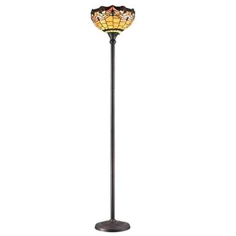 amora lighting 71 25 in tiffany style torchiere jeweled