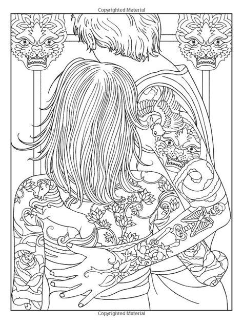 Body Art: Tattoo Designs Coloring Book (Dover Design