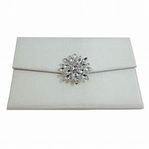 padded silk envelope with tassel and pearl brooch for With silk envelope wedding invitations