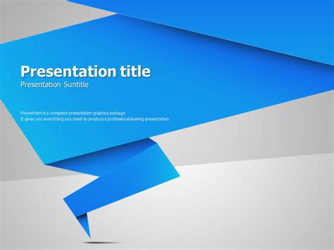 Origami Animated Powerpoint Template