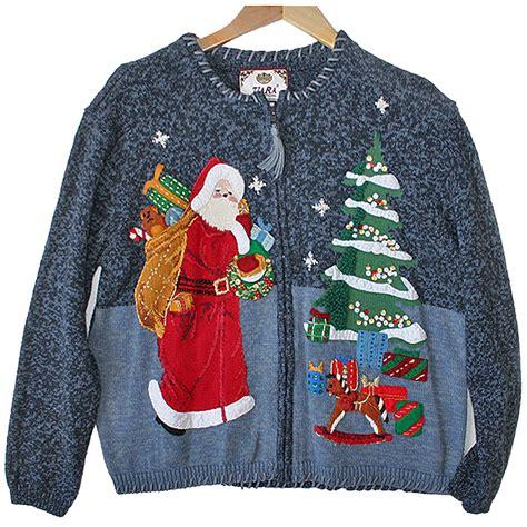 tacky sweater stoned santa tacky sweater the