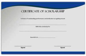 scholarship award certificate editable templates