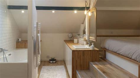 amenagement chambre parentale avec salle bain great parentale avec salle de bain sous comble meuble with