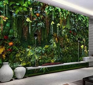Plantes Grimpantes Mur : mur v g tal plantes tropicale papier peint personnalis ~ Melissatoandfro.com Idées de Décoration