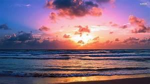 Beach Sunrise 827658 - WallDevil