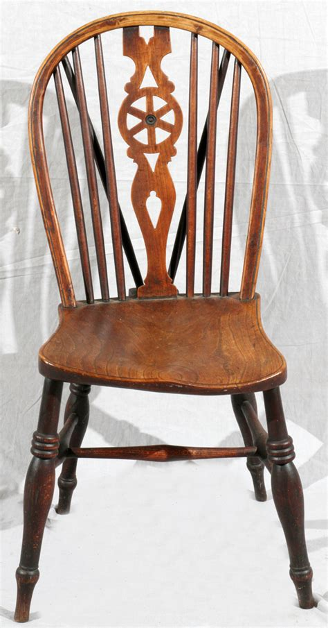 oak chair 18th c h 35 1 2 quot wagon wheel splat