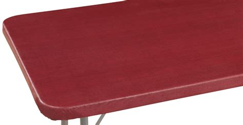 fitted table covers elastic classic weave vinyl elasticized banquet table cover ebay