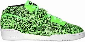 Reebok Work Out Mid Keith Haring Sneakers in Green for Men