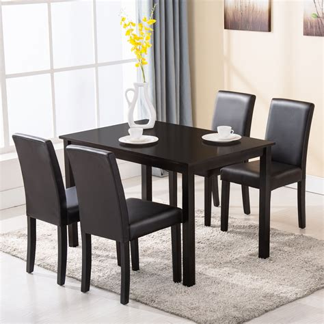 4 chair table set 5 piece dining table set 4 chairs wood kitchen dinette