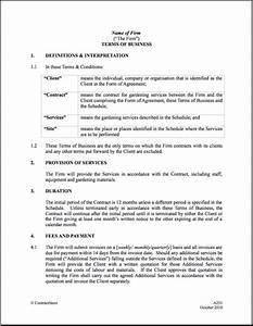maintenance contract agreement free printable documents With gardening contract template