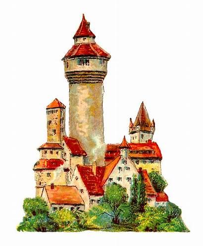 Castle German Illustration Clip Clipart Chalet Architecture