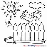 Coloring Pages Fence Farm Children Sheet Hits Title Coloringpagesfree sketch template