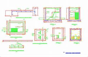 Grates And Sewage Line Connection Boxes DWG Plan for