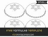 Template Yarmulke Multiple Sizes Templates Them sketch template