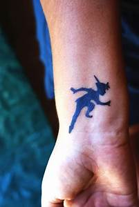 Peter pans shadow tattoo behind the ear | Ink & Things ...