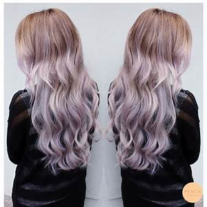 Lila ombre Lilac purple Ashy silver pastel | Pastell ...